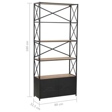 vidaXL Regał na książki z drewna jodłowego i stali, 80 x 32,5 x 180 cm[13/13]