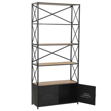 "vidaXL Bookcase Solid Firwood and Steel 31.4""x12.7""x70.8""[6/13]"