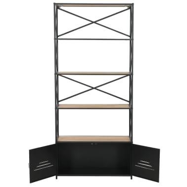 "vidaXL Bookcase Solid Firwood and Steel 31.4""x12.7""x70.8""[7/13]"