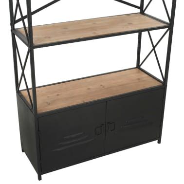 "vidaXL Bookcase Solid Firwood and Steel 31.4""x12.7""x70.8""[9/13]"
