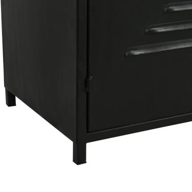 "vidaXL Bookcase Solid Firwood and Steel 31.4""x12.7""x70.8""[10/13]"