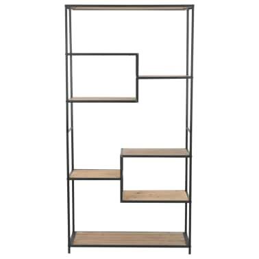 vidaXL Knjižna omara trden les jelke in jeklo 90,5x35x180 cm[2/9]