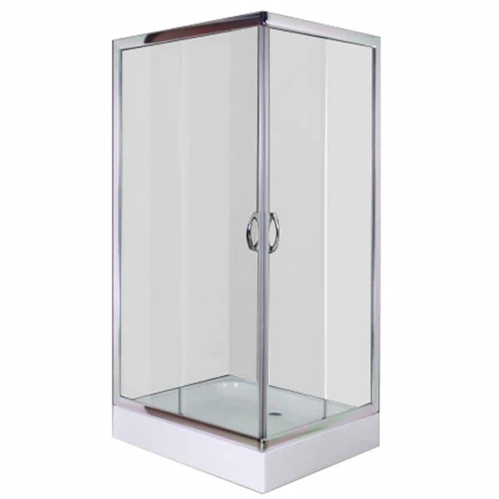 vidaXL Cabină de duș cu cădiță, dreptunghiulară, 100 x 80 x 185 cm vidaxl.ro