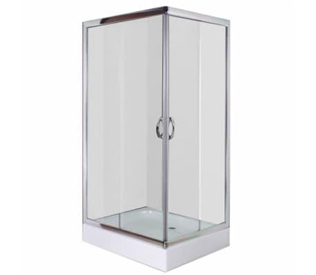 vidaXL Mampara ducha con placa rectangular 100x80x185 cm[1/6]