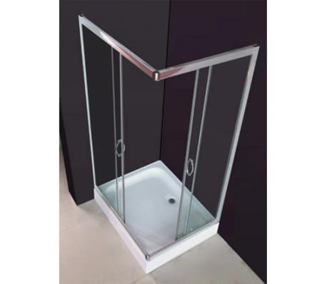vidaXL Mampara ducha con placa rectangular 100x80x185 cm[3/6]