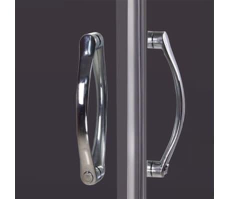 vidaXL Mampara ducha con placa rectangular 100x80x185 cm[5/6]