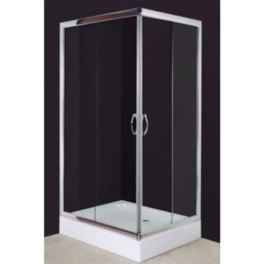 vidaXL Mampara ducha con placa rectangular 100x80x185 cm[2/6]