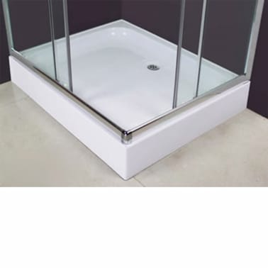 vidaXL Mampara ducha con placa rectangular 100x80x185 cm[4/6]