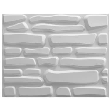 vidaXL Panneau mural 3D 12 pcs 0,8 x 0,625 m 6m²[2/5]