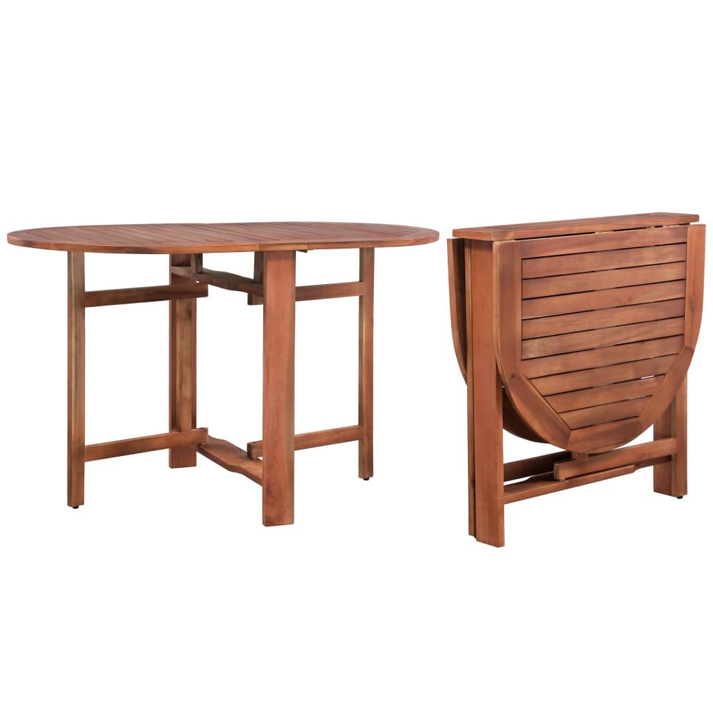 vidaXL Masă de grădină, 120 x 70 x 74 cm, lemn masiv de acacia poza vidaxl.ro