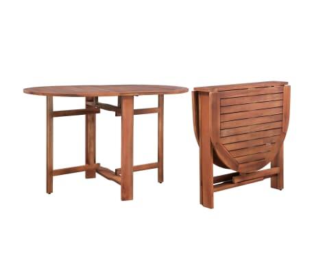 vidaXL Table de jardin 120 x 70 x 74 cm Bois d\'acacia massif