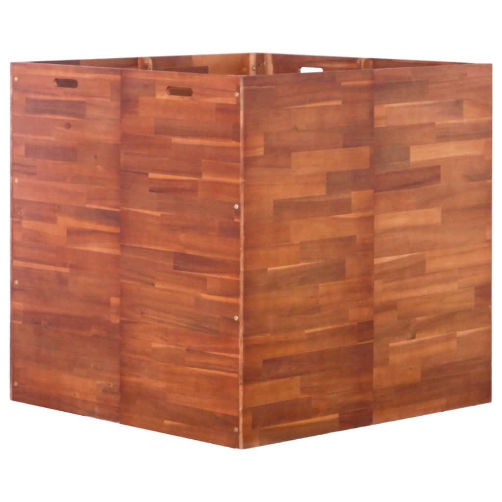 vidaXL Strat înălțat de grădină, 100 x 100 x 100 cm, lemn de acacia vidaxl.ro