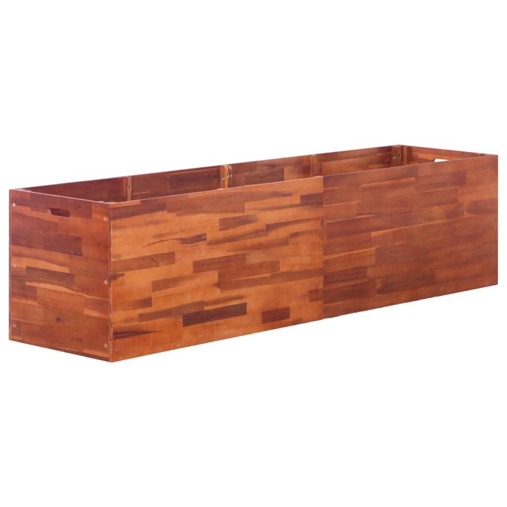 vidaXL Strat înălțat de grădină, 200 x 50 x 50 cm, lemn de acacia imagine vidaxl.ro