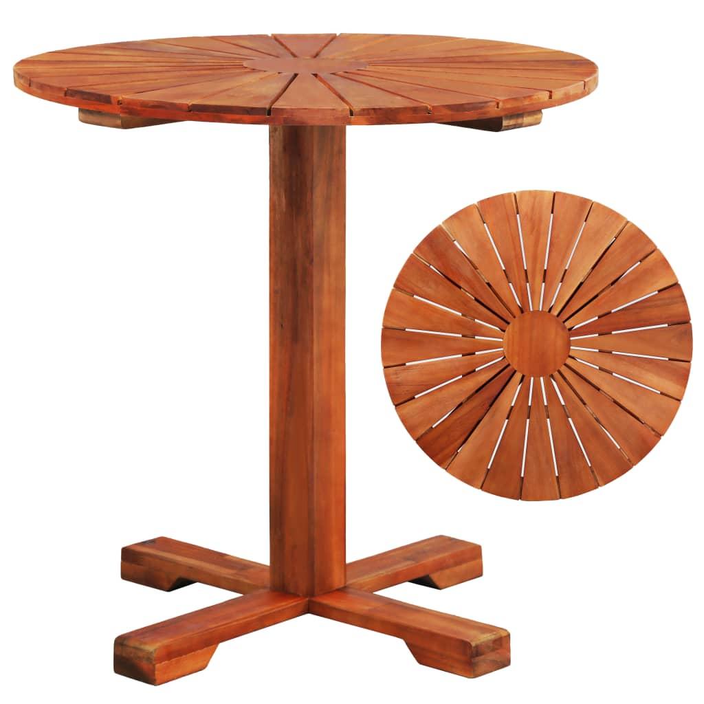 vidaXL tömör akácfa bisztró asztal 70 x 70 cm