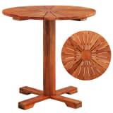 vidaXL Pedestal Table Solid Acacia Wood 70x70 cm Round