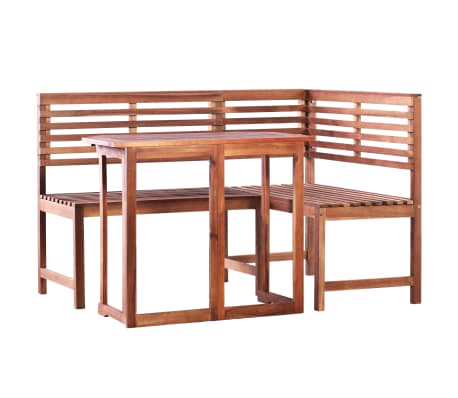 vidaXL 2 Piece Bistro Set Solid Acacia Wood[1/9]