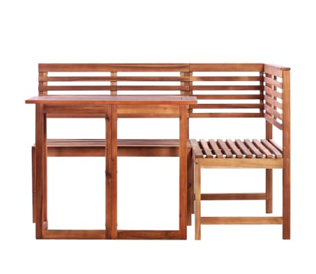 vidaXL 2 Piece Bistro Set Solid Acacia Wood[2/9]