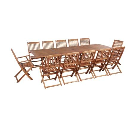 vidaXL 13 Piece Outdoor Dining Set Solid Acacia Wood