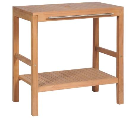vidaXL Vonios kamb. spintelė, tikmedžio medienos masyvas, 74x45x75cm