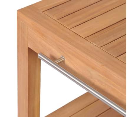 Vidaxl mueble tocador madera teca maciza con lavabos de for Tocador de madera maciza