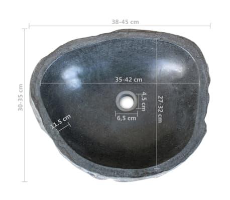vidaXL Kylpyhuoneen allaskaappisetti kiinteä tiikki ja jokikivialtaat[9/14]