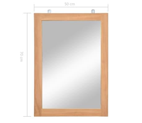 vidaXL Specchio da Parete in Legno Massello di Teak 50x70 cm