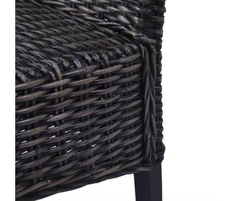 vidaXL 2x Chaise de Salle à Manger Rotin Kubu Bois de Manguier Salon Cuisine
