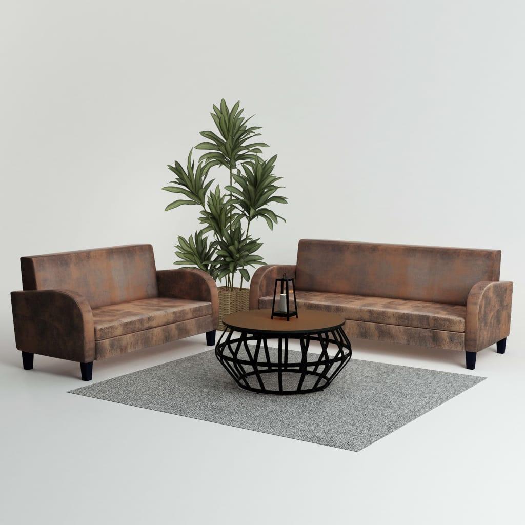 Canapé 3 places Marron Design Confort