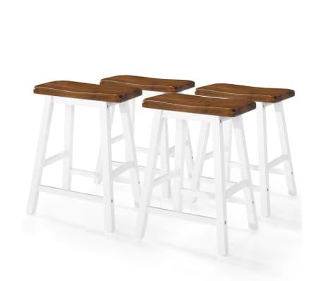 vidaXL Baro stalo ir kėdžių komplektas, 5d., masyvi mediena[6/13]