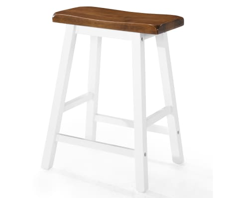 vidaXL Baro stalo ir kėdžių komplektas, 5d., masyvi mediena[7/13]