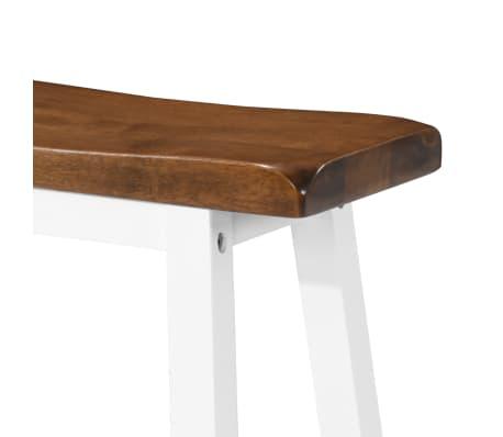 vidaXL Baro stalo ir kėdžių komplektas, 5d., masyvi mediena[10/13]