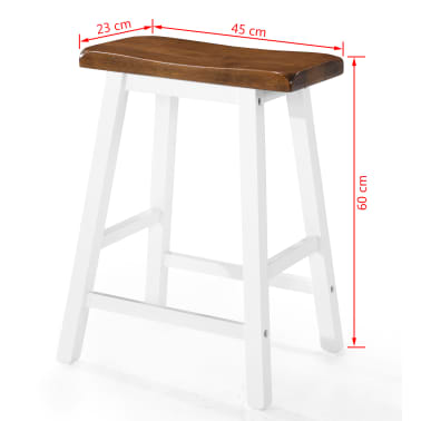 vidaXL Baro stalo ir kėdžių komplektas, 5d., masyvi mediena[13/13]