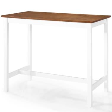 vidaXL Baro stalo ir kėdžių komplektas, 5d., masyvi mediena[5/13]