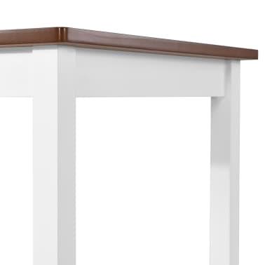 vidaXL Baro stalo ir kėdžių komplektas, 5d., masyvi mediena[9/13]