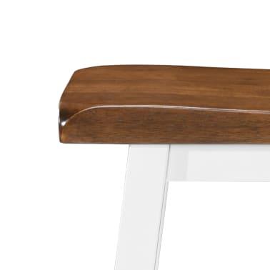 vidaXL Baro stalo ir kėdžių komplektas, 5d., masyvi mediena[11/13]