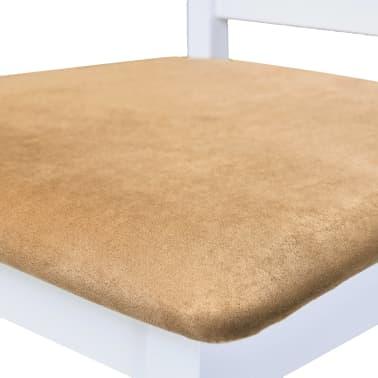 vidaXL Bartafel- en barstoelenset massief hout bruin en wit 3-delig[7/9]