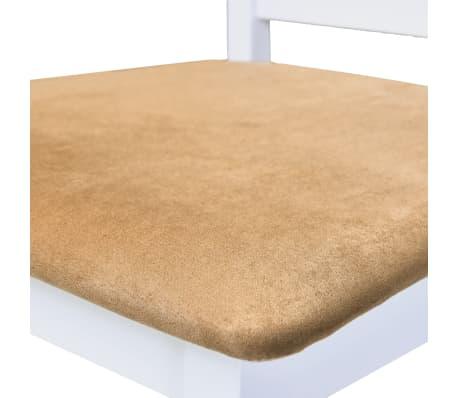 vidaXL Barska miza in stoli 5-delni komplet trden les rjava in bela[7/9]