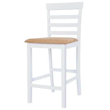 vidaXL Barska miza in stoli 5-delni komplet trden les rjava in bela[6/9]