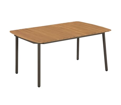 vidaXL Garden Table 150x90x72cm Solid Acacia Wood and Steel