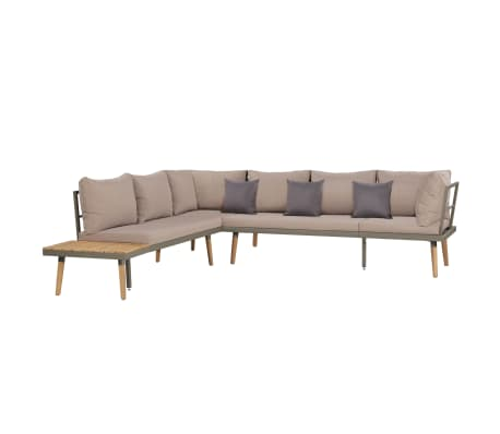 vidaXL 4 Piece Garden Lounge Set with Cushions Solid Acacia Wood Brown[2/8]
