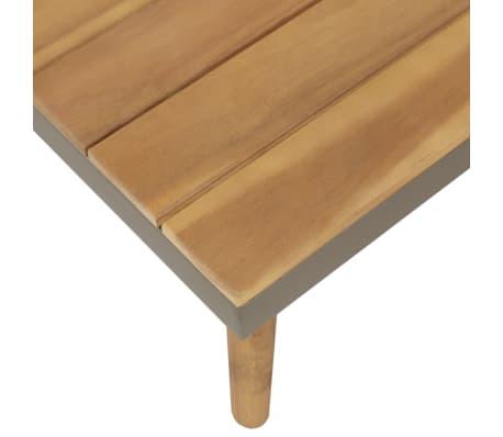 vidaXL 4 Piece Garden Lounge Set with Cushions Solid Acacia Wood Brown[4/8]