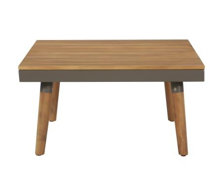 vidaXL 4 Piece Garden Lounge Set with Cushions Solid Acacia Wood Brown[6/8]
