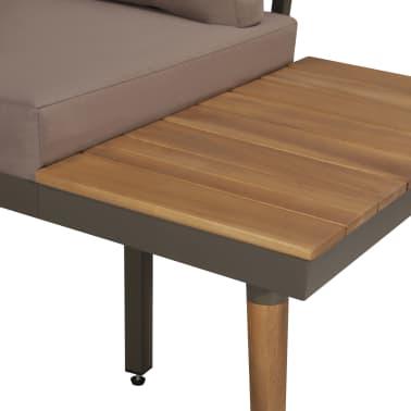 vidaXL 4 Piece Garden Lounge Set with Cushions Solid Acacia Wood Brown[3/8]