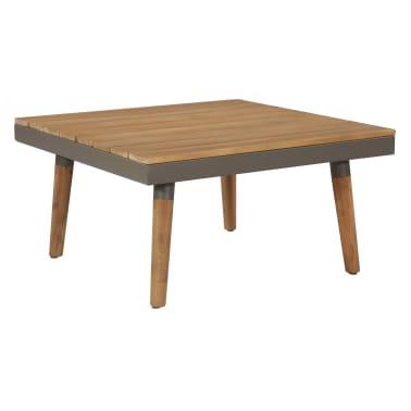 vidaXL 4 Piece Garden Lounge Set with Cushions Solid Acacia Wood Brown[5/8]