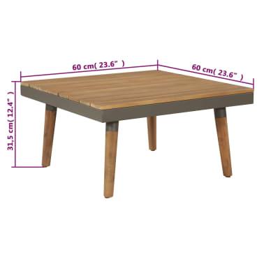 vidaXL 4 Piece Garden Lounge Set with Cushions Solid Acacia Wood Brown[8/8]