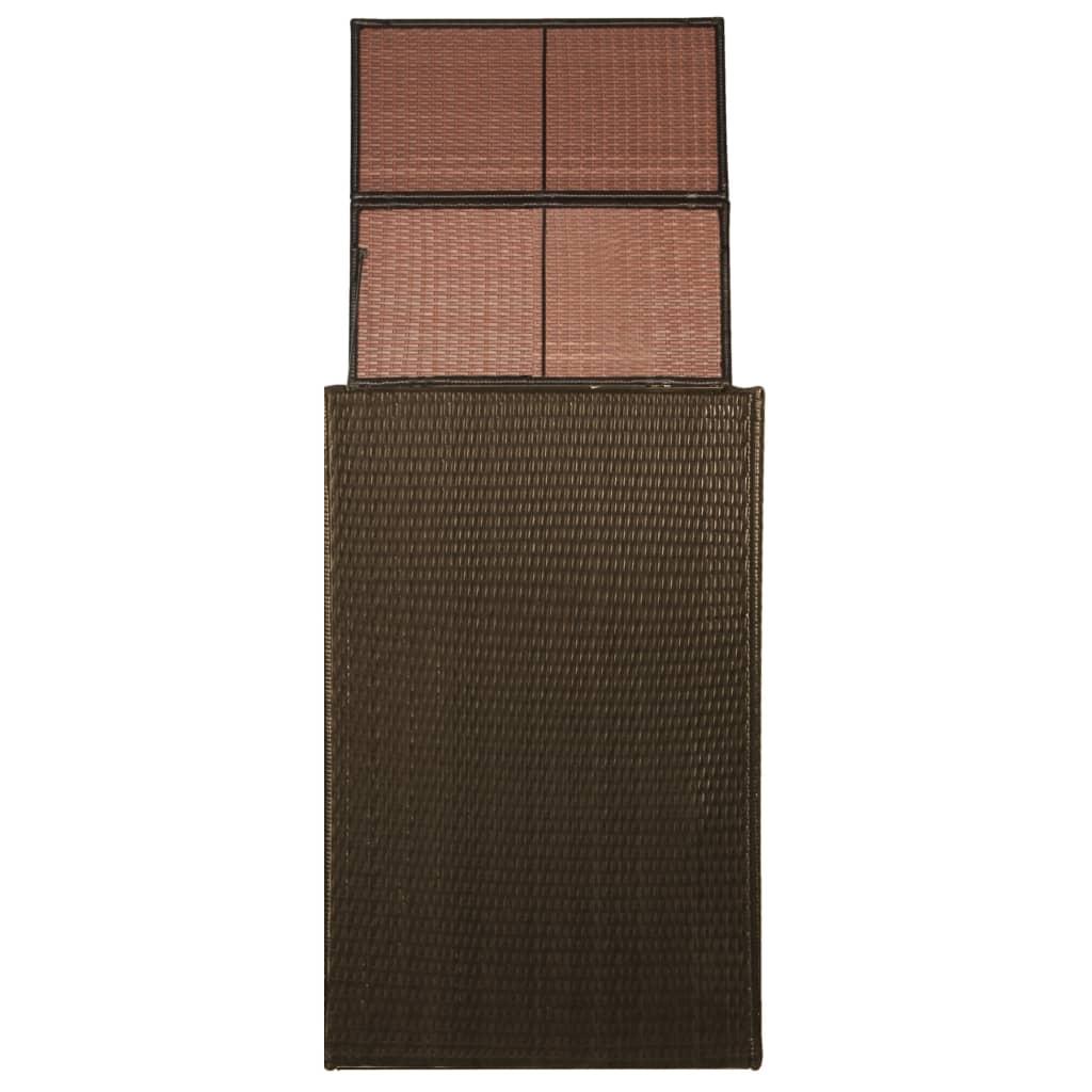 Afbeelding van vidaXL Containerberging enkel 76x78x120 cm poly rattan bruin