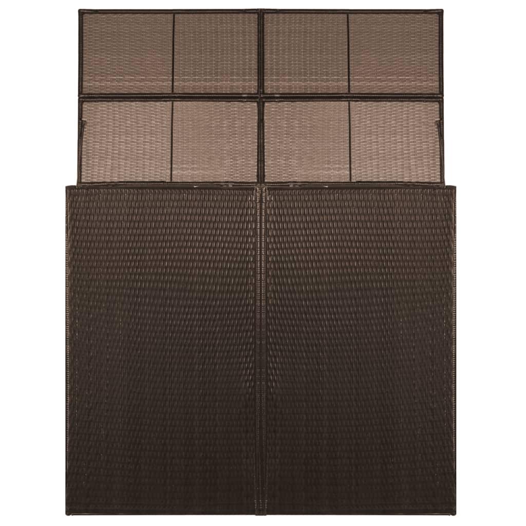 Afbeelding van vidaXL Containerberging dubbel 153x78x120 cm poly rattan bruin