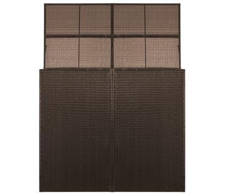 vidaXL Kahden roska-astian vaja polyrottinki 153x78x120cm ruskea[2/4]