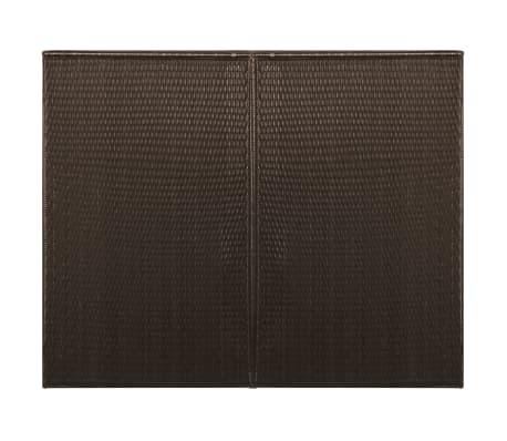 vidaXL Kahden roska-astian vaja polyrottinki 153x78x120cm ruskea[3/4]