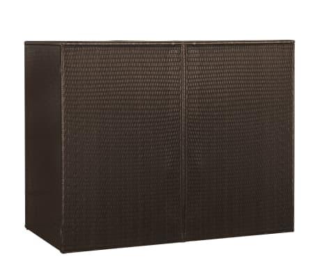 vidaXL Kahden roska-astian vaja polyrottinki 153x78x120cm ruskea[4/4]